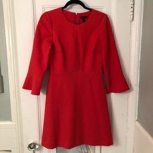 J. Crew orange bell sleeve dress sz 4